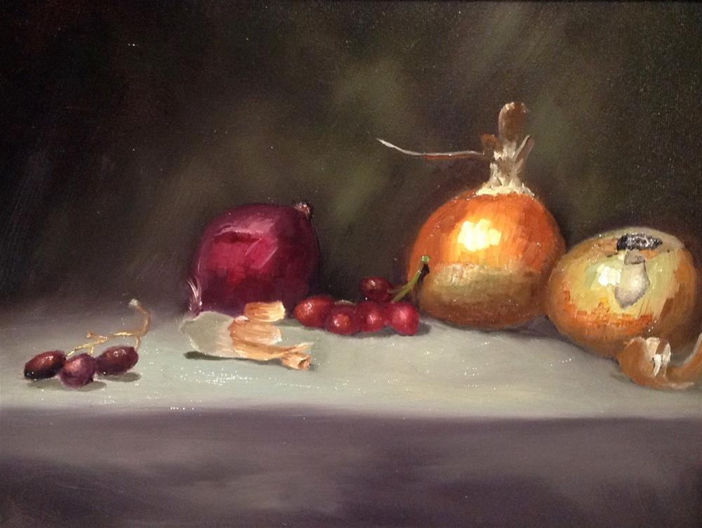 """""""Onions"""" original fine art by Susan Hoffheimer"""