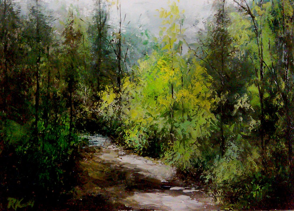 """Shady Path"" original fine art by Bob Kimball"