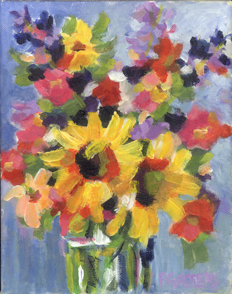 """Sunflower Set"" original fine art by Pamela Gatens"