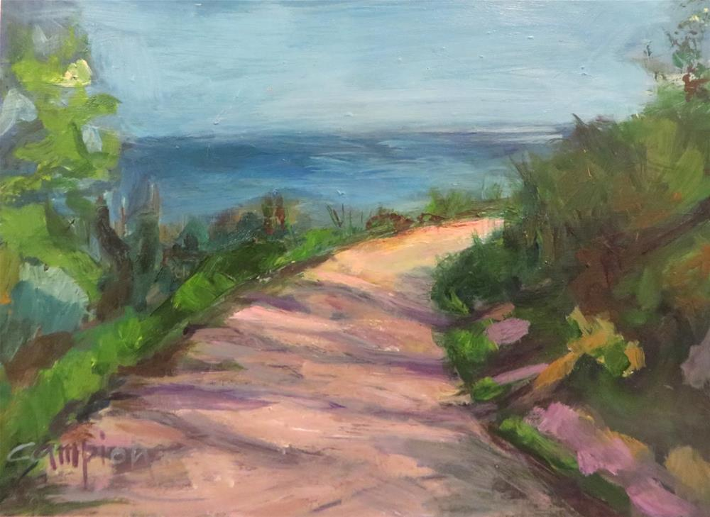 """627 Path at Big Bay"" original fine art by Diane Campion"