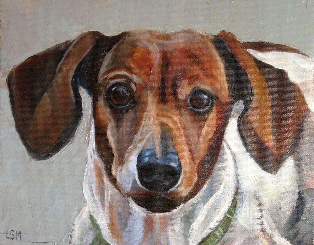 """Emma Jane - Pet Portrait"" original fine art by Linda Marino"