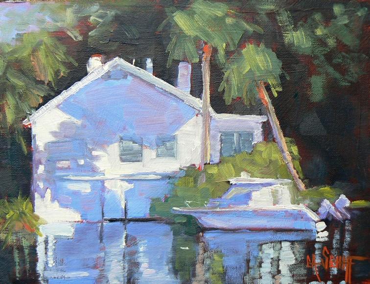 """Postcard from Florida"" original fine art by Carol Schiff"