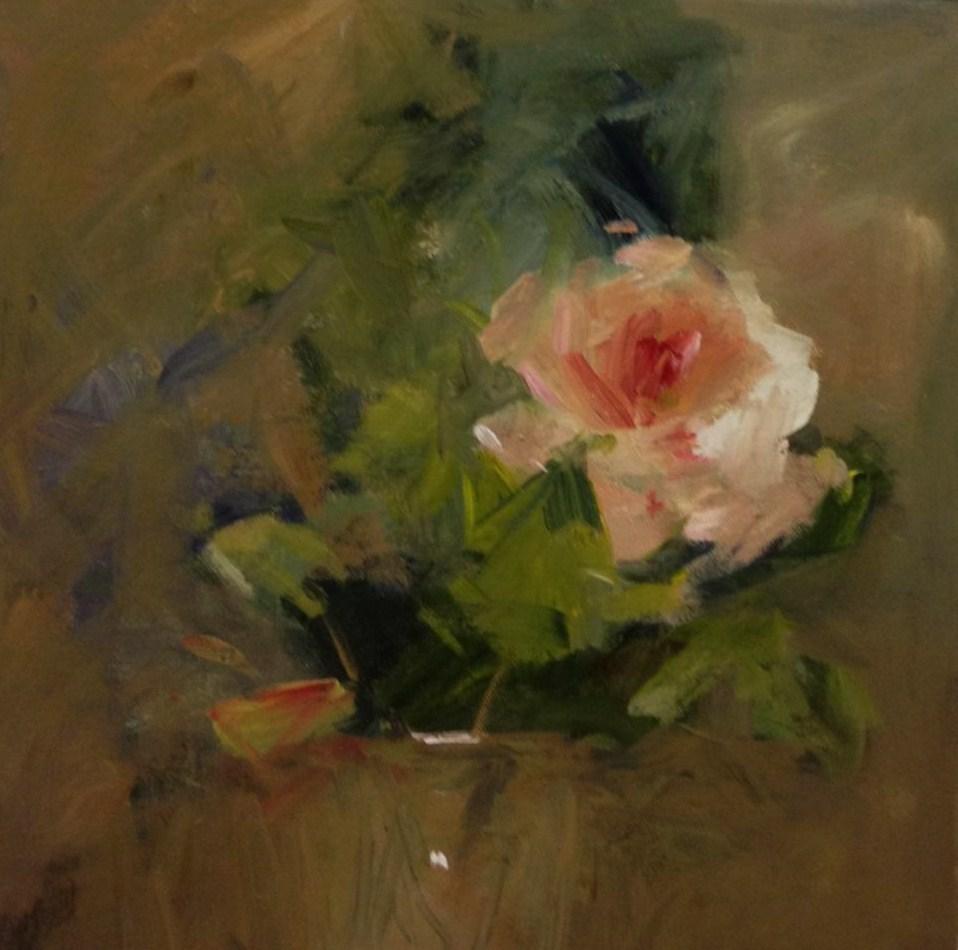 """""""a dreamy rose"""" original fine art by Parastoo Ganjei"""