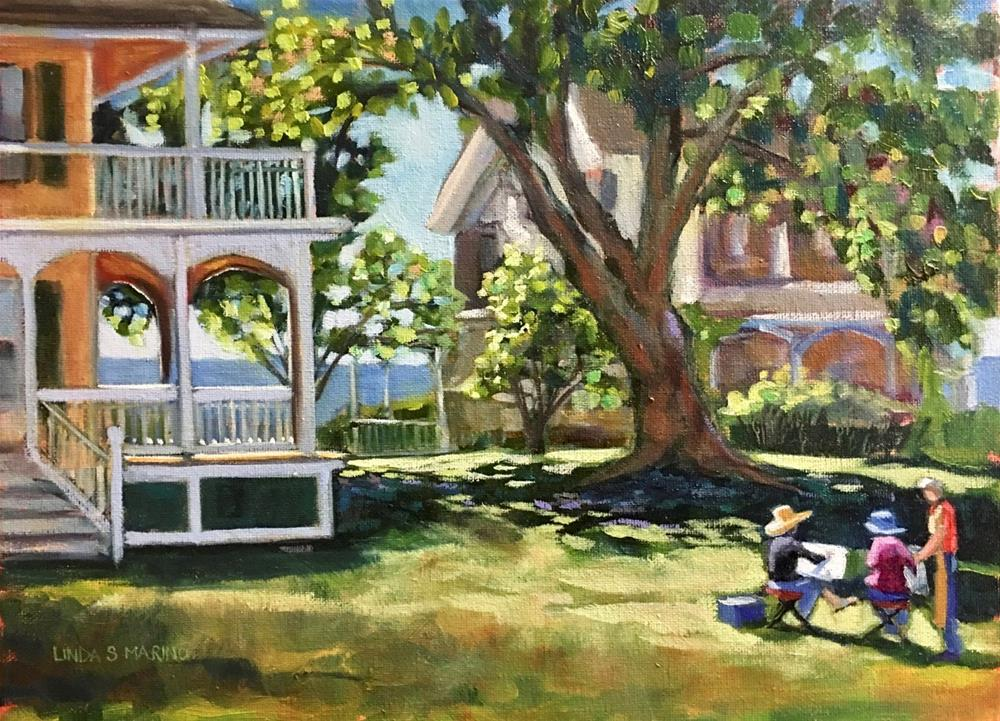 """The Lesson, Thimble Island Workshop"" original fine art by Linda Marino"