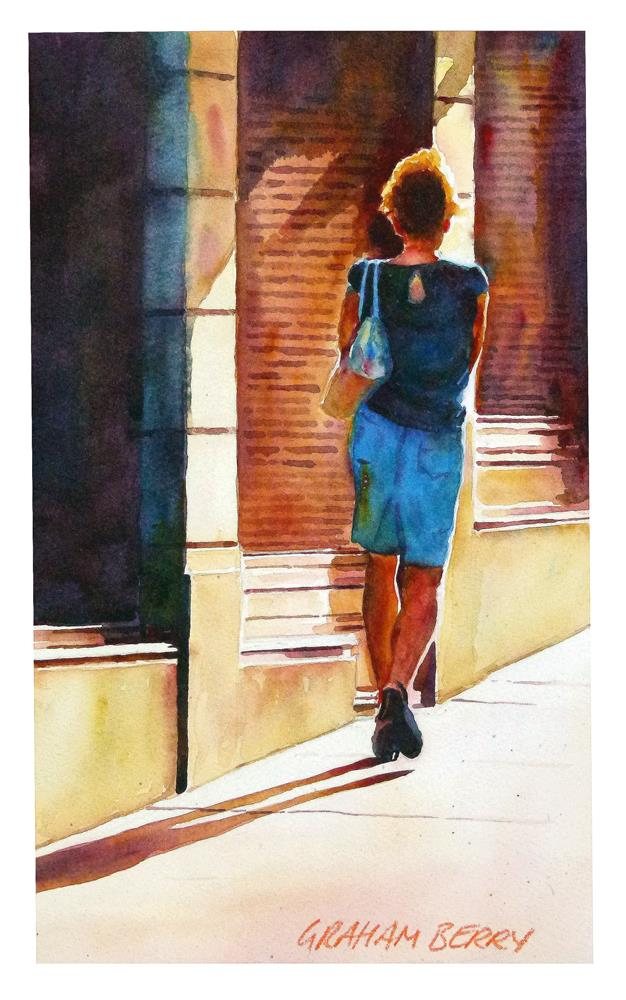 """Lady in blue"" original fine art by Graham Berry"