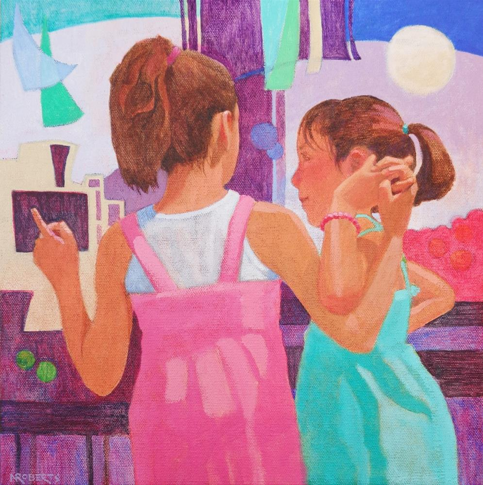 """Friends"" original fine art by Nancy Roberts"
