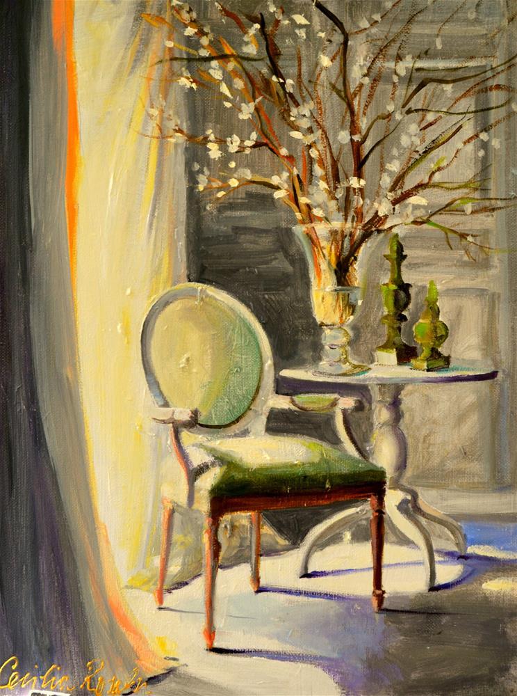 """LUMIERE DU SOLEIL"" original fine art by Cecilia Rosslee"