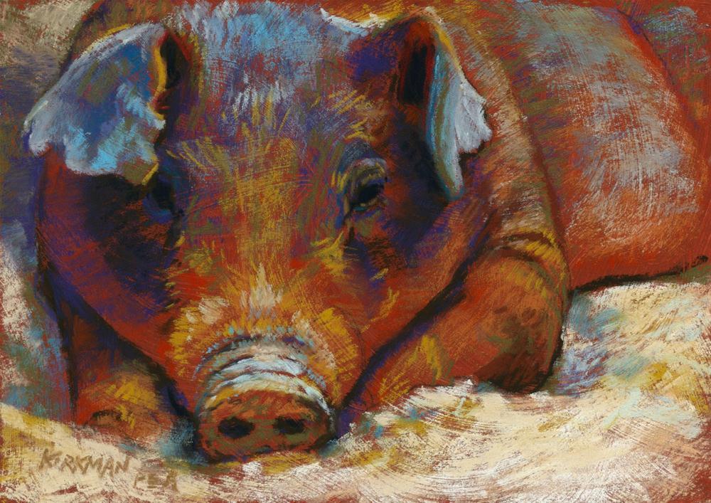 Wallowing original fine art by Rita Kirkman