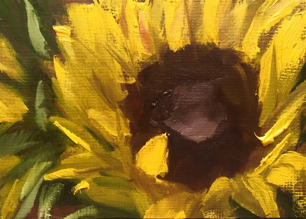 """""""Sunflower Closeup II"""" original fine art by Gary Bruton"""