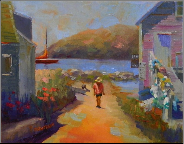 """The Fish House, Monhegan Island, 14x11"" original fine art by Maryanne Jacobsen"