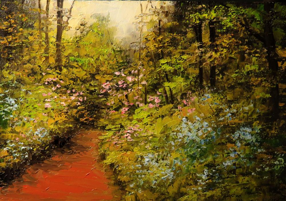 """Garden in the Woods"" original fine art by Bob Kimball"