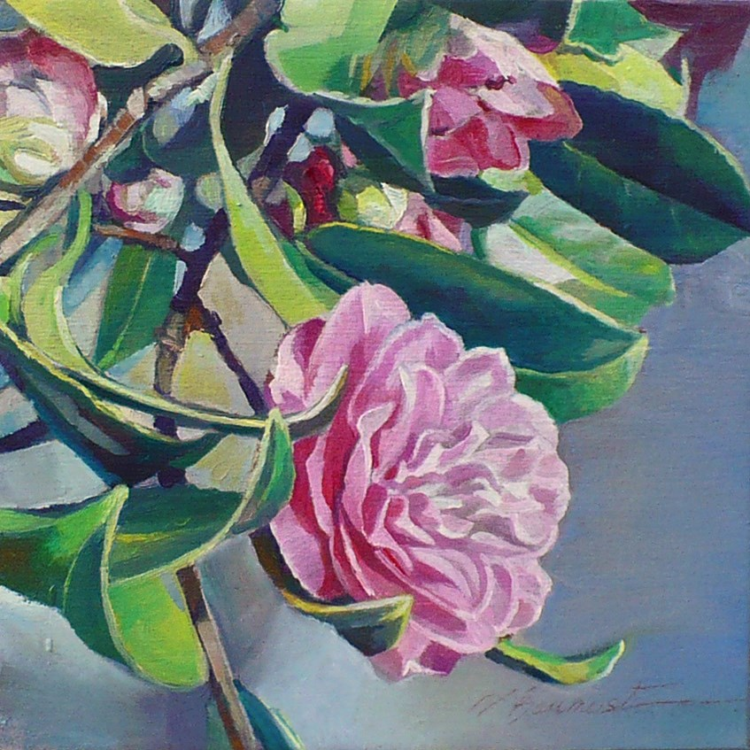 """Camelia, Looking for smoothness"" original fine art by Nicoletta Baumeister"