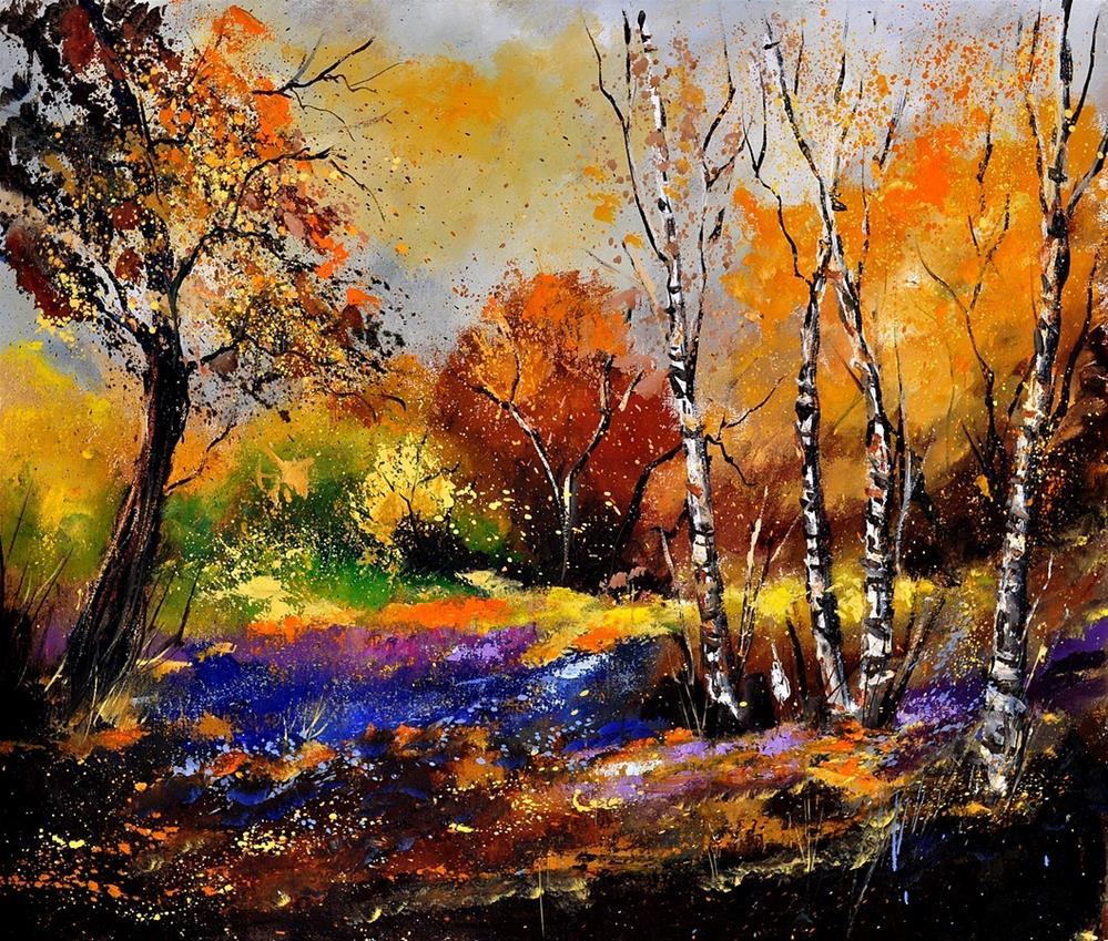 """""""Autumn 673180"""" original fine art by Pol Ledent"""