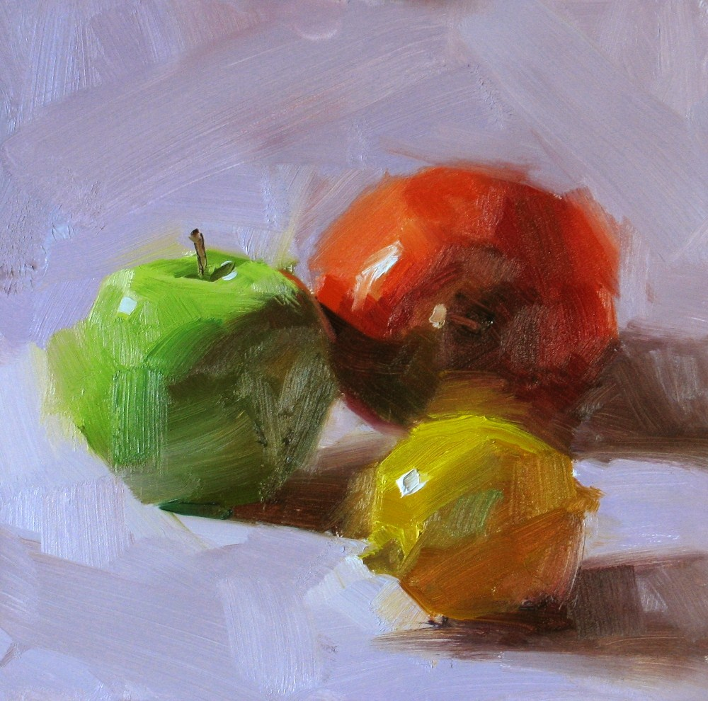 """Green Red and Yellow"" original fine art by Qiang Huang"