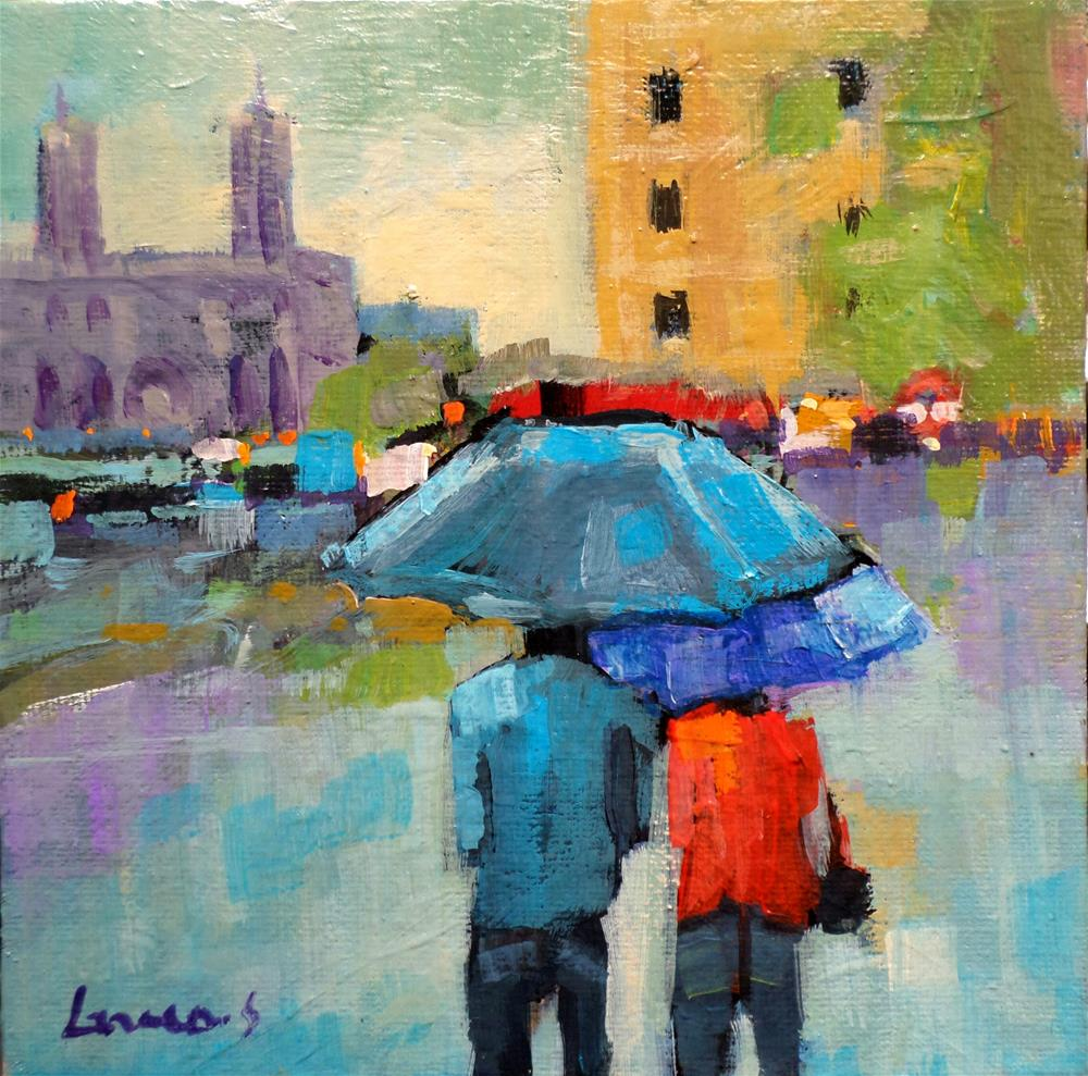 """UMBRELLAS"" original fine art by salvatore greco"