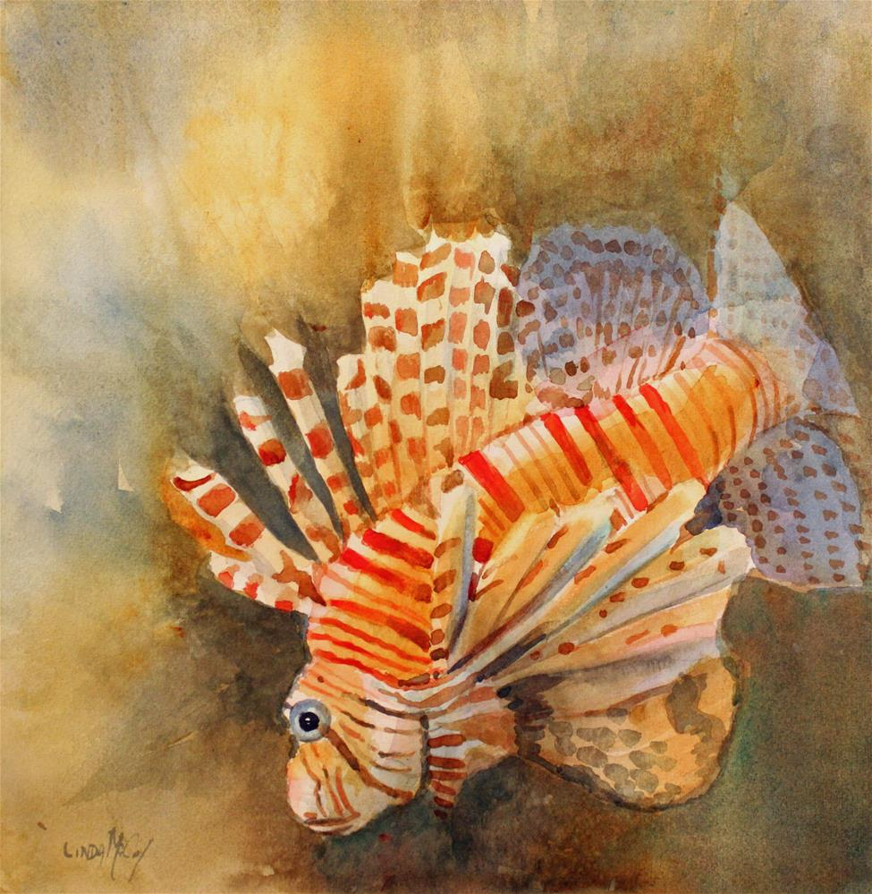 """Lionfish, Watercolor, Linda McCoy"" original fine art by Linda McCoy"