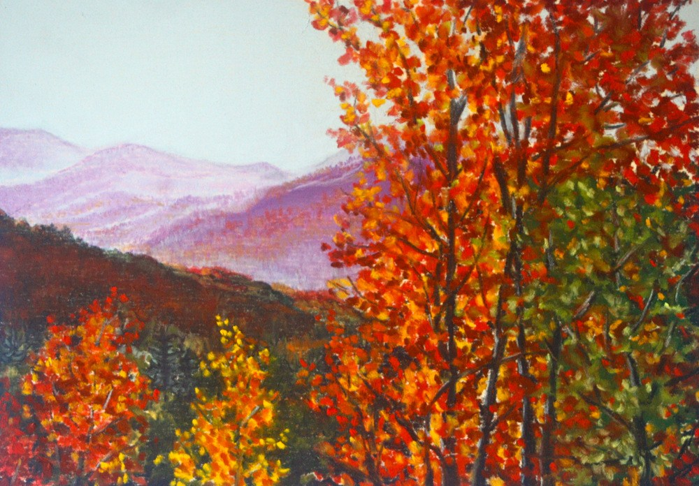 """Mount Timpanogos, Alpine Loop"" original fine art by Jill Bates"