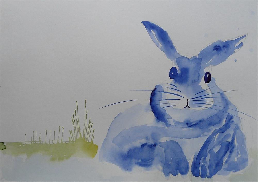 """Easter bunny"" original fine art by Ulrike Schmidt"