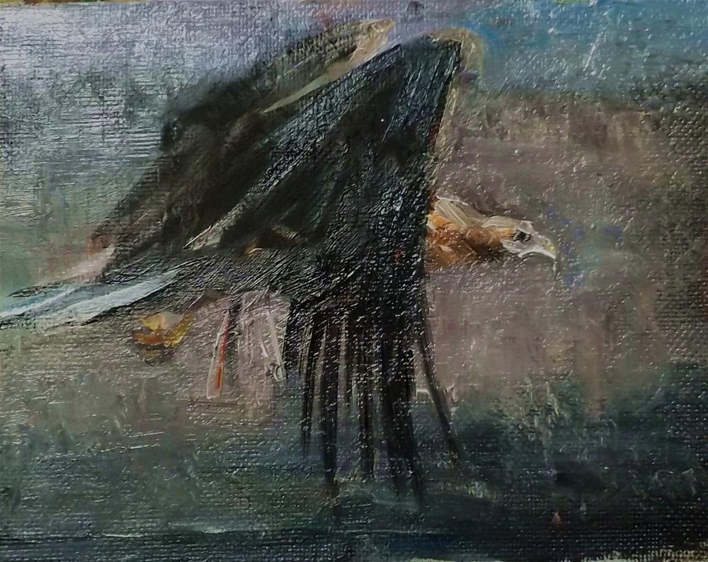 """eagle,n11"" original fine art by Run-      Zhang Zane"