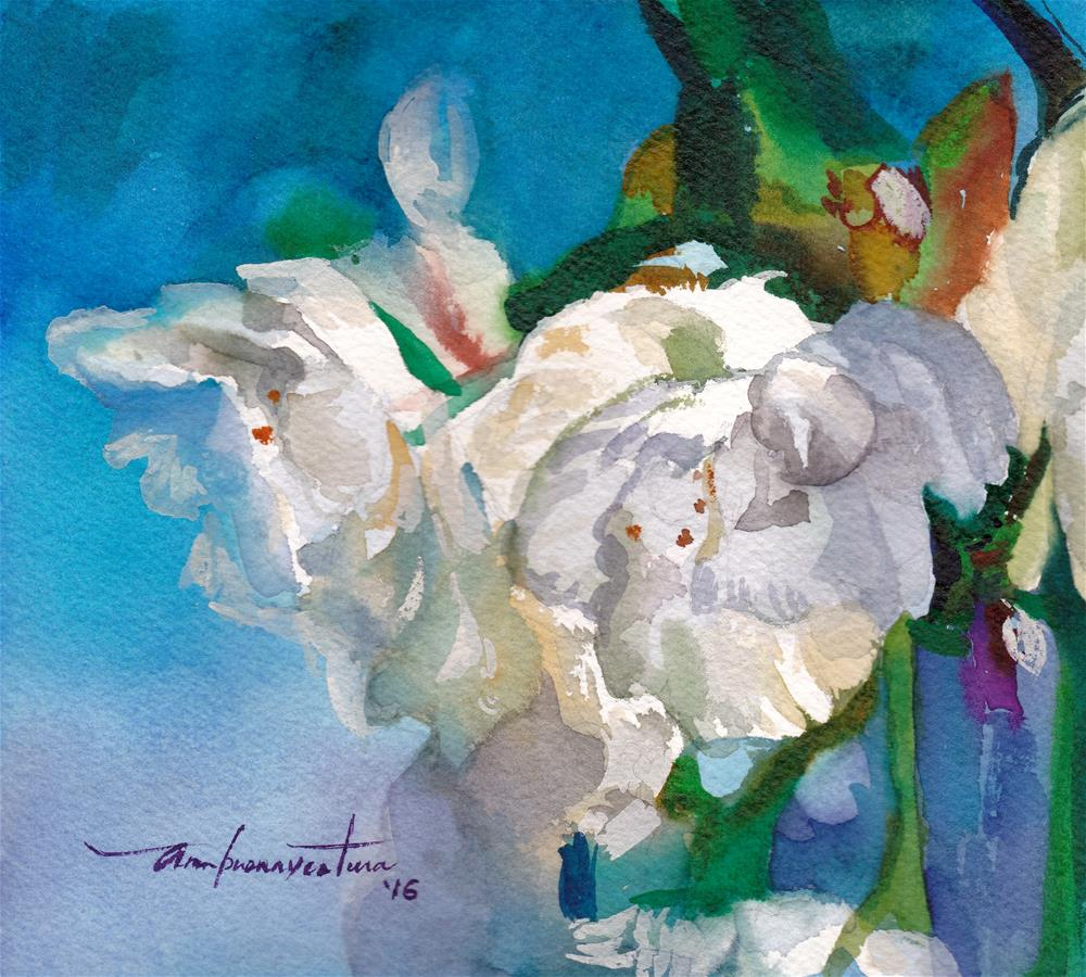 """Blossoms"" original fine art by Ann Buenaventura"