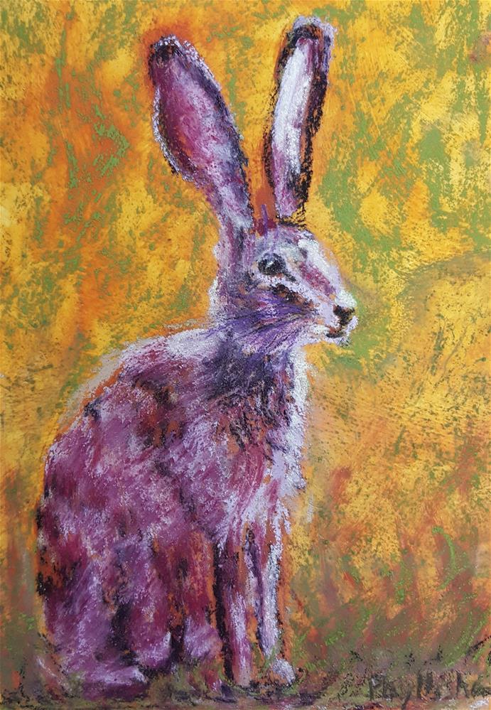 """""""New Mexico Hare"""" original fine art by Phyllisha Hamrick"""