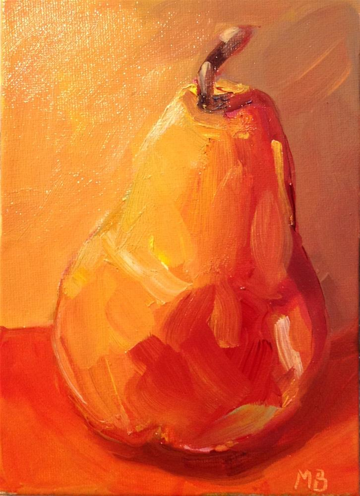 """Blushing Pear"" original fine art by Marcia Bergtholdt"