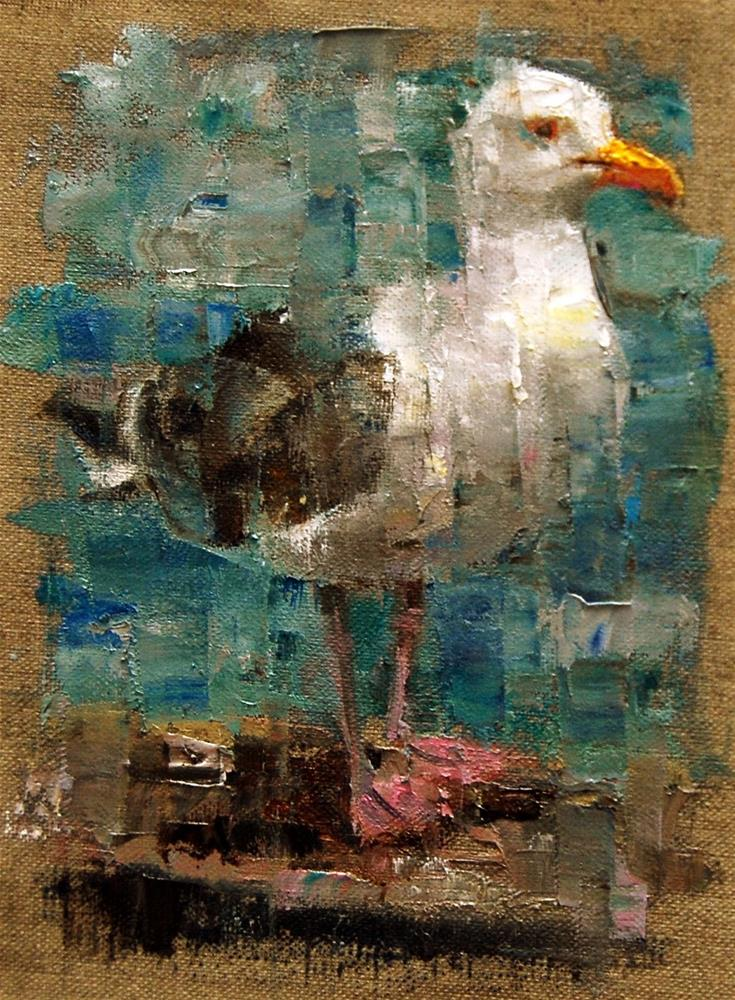 """Meet Mr. Gull"" original fine art by Julie Ford Oliver"