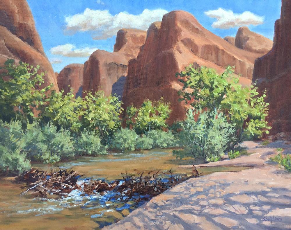 """The Beavers of Moab"" original fine art by Scott Lines"