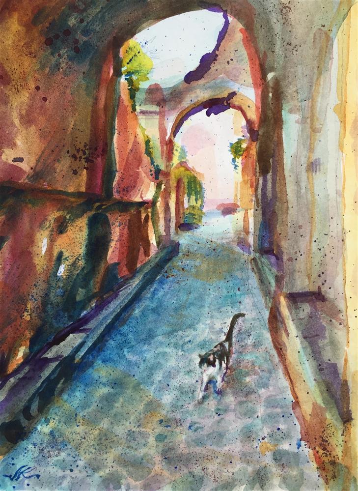 """Gato di Civitas"" original fine art by jean krueger"