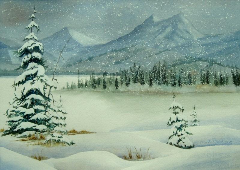 """Winter Afternoon"" original fine art by Horst Berlow"