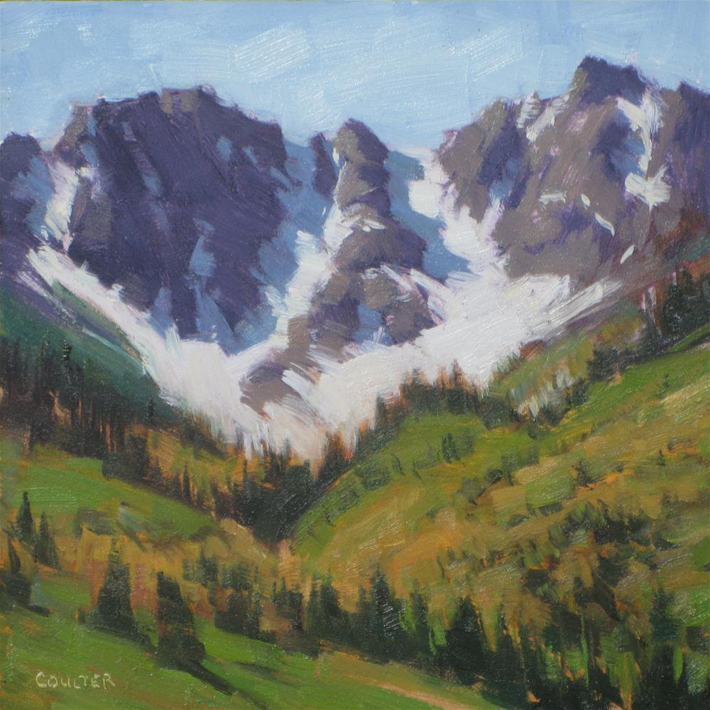 """STORM PEAK"" original fine art by James Coulter"