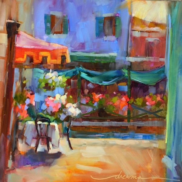 """Sunny Day in Burano and Marco Island…Did Someone Say Sunshine??"" original fine art by Dreama Tolle Perry"