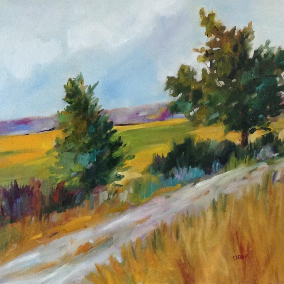 """Country Road Walk"" original fine art by Libby Anderson"