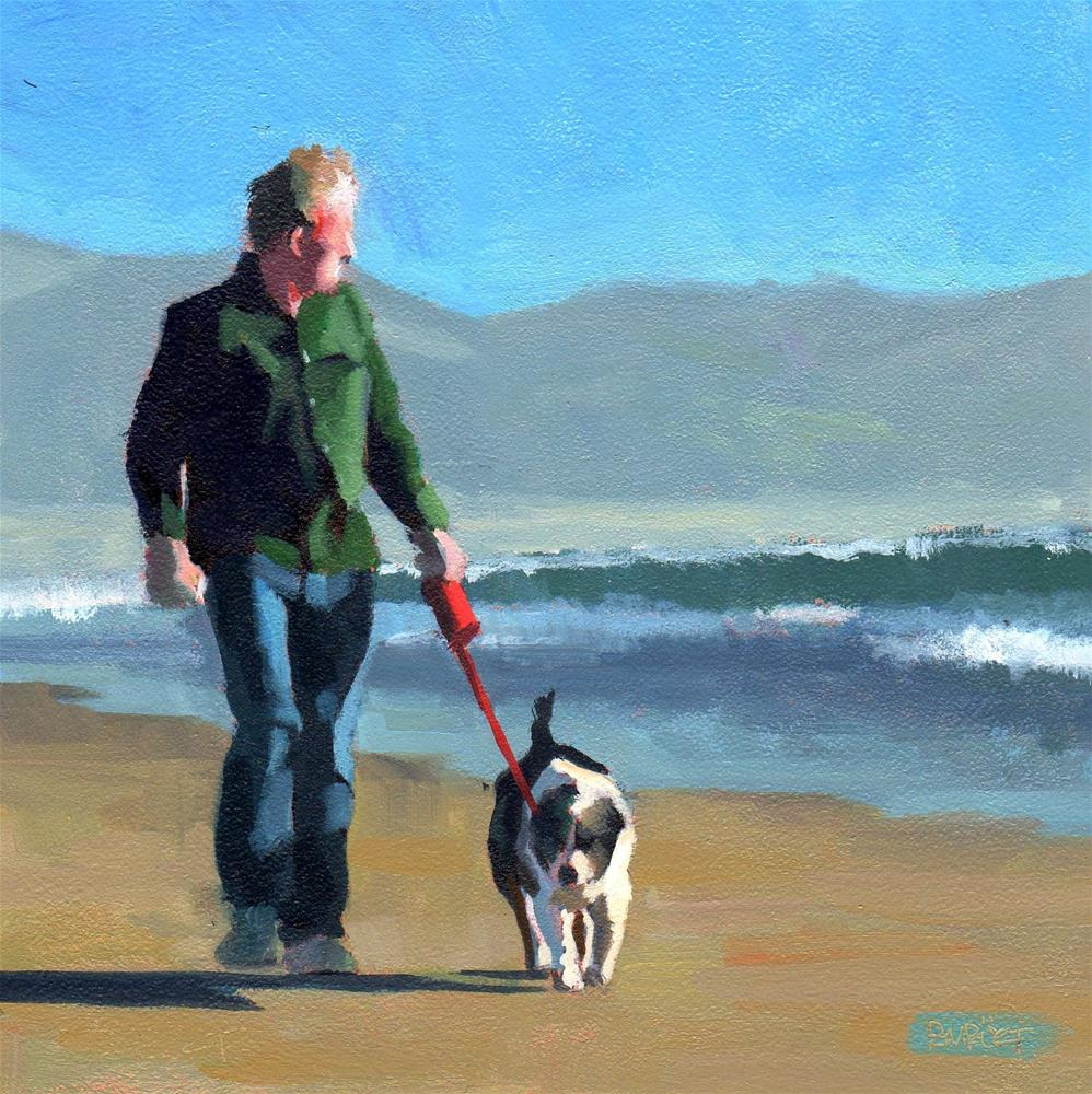 """#291 The Sunset Walk"" original fine art by Brian Burt"