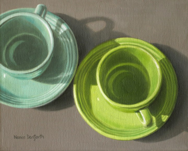 """Two Fiesta Cups II"" original fine art by Nance Danforth"