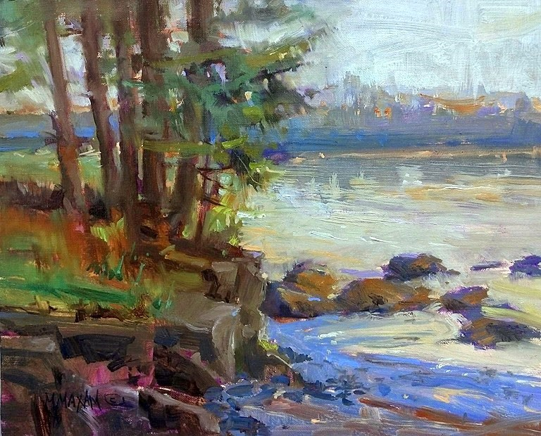 """Water's Edge"" original fine art by Mary Maxam"