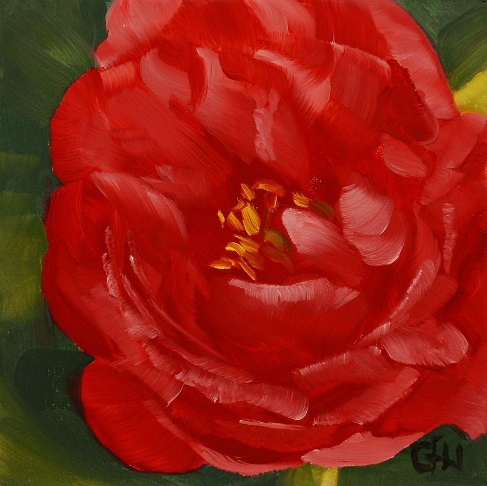 """Peony - Coral Sunset"" original fine art by Gary Westlake"