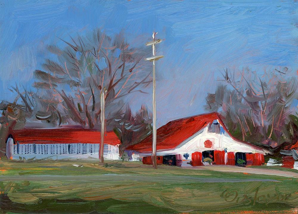 """Primm Owen Barn in Brentwood"" original fine art by Chris Ousley"