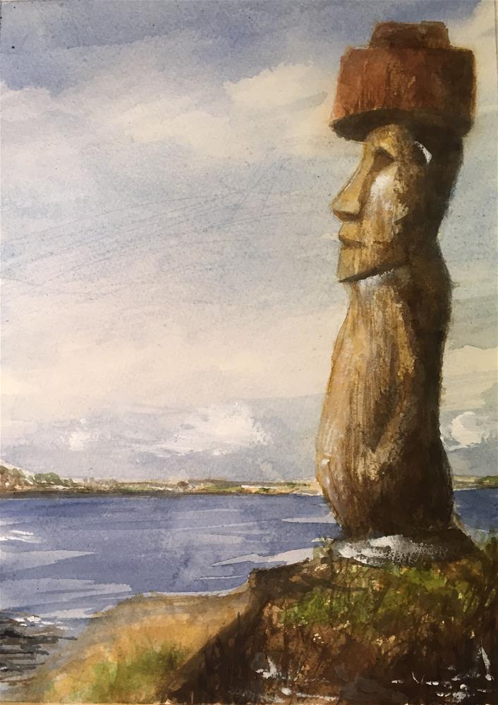 """""""EASTER ISLAND"""" original fine art by Ferran Llagostera"""