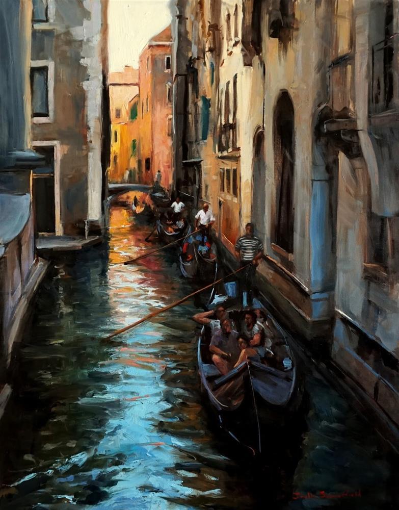 """Venetian Tour"" original fine art by Jonelle Summerfield"