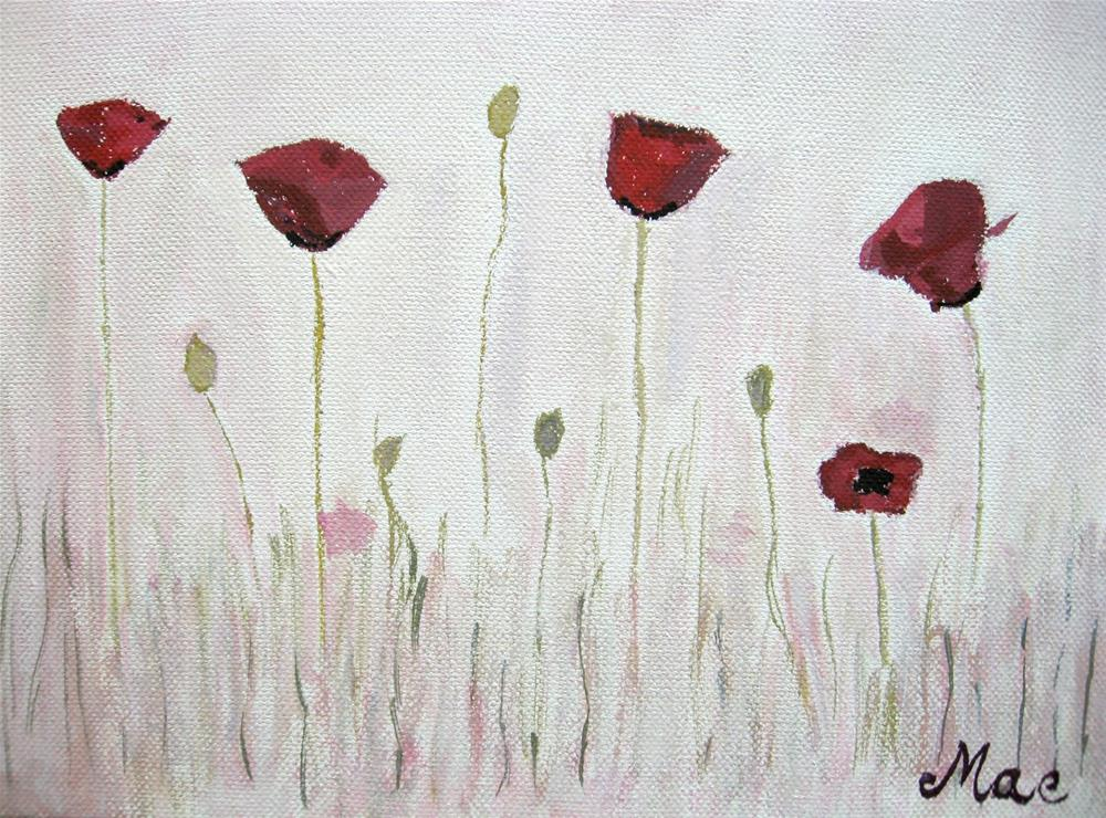"""Poppies"" original fine art by Alina Frent"