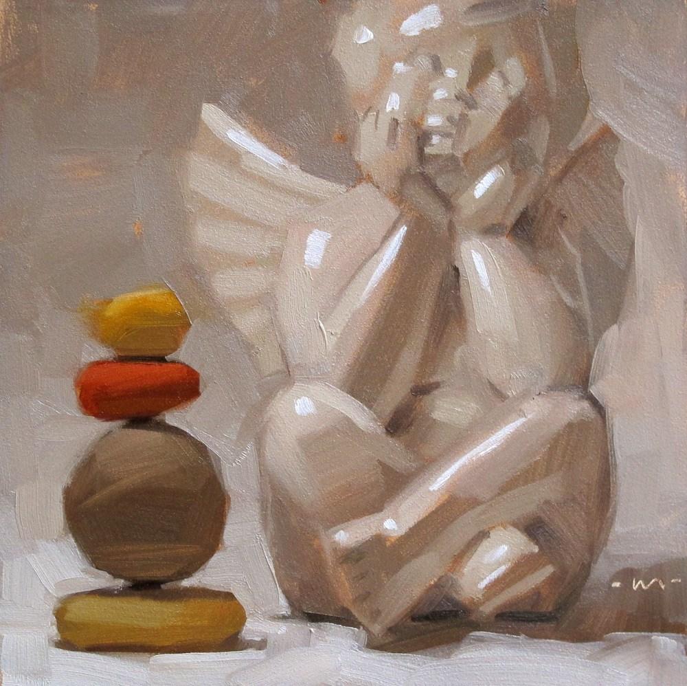 """Considering Balance"" original fine art by Carol Marine"