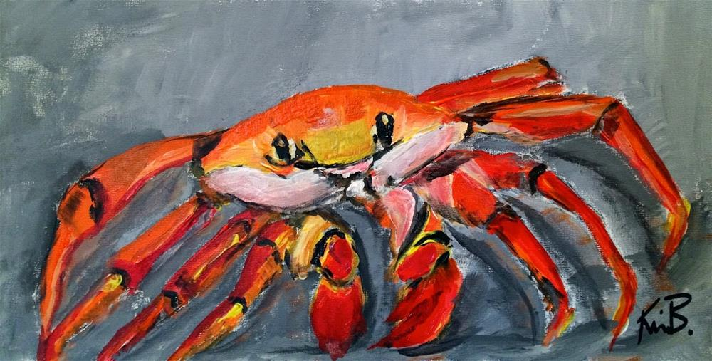 """Crazy Crab"" original fine art by Kimberly Balentine"
