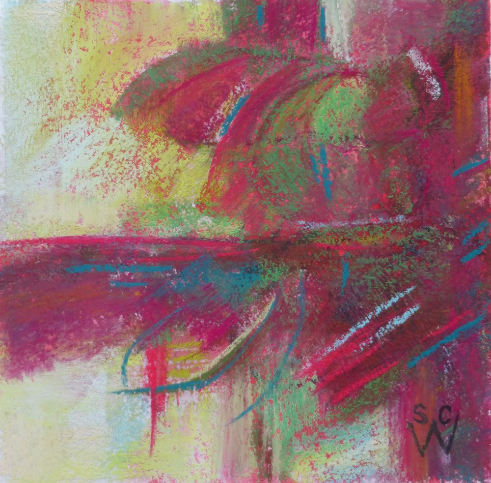 """Feathering"" original fine art by Susan Woodward"