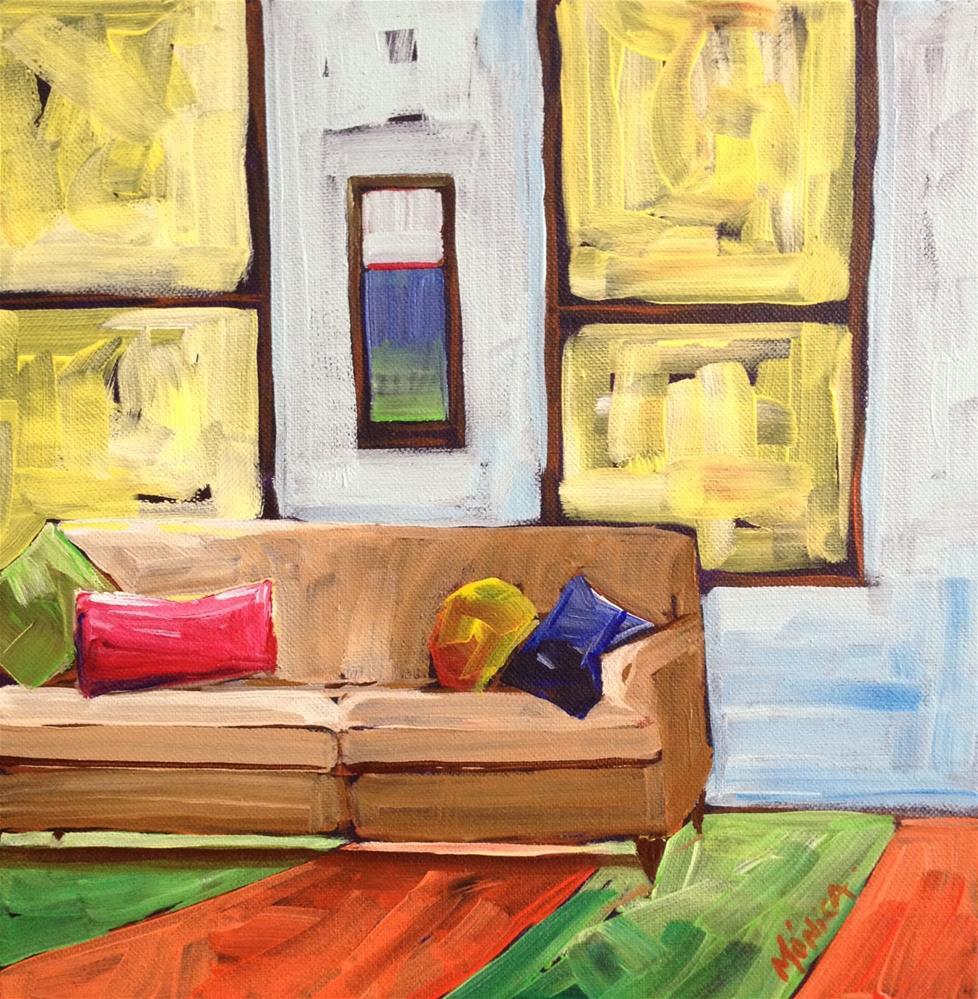 """""""The Sofa"""" original fine art by Mónica Linares"""