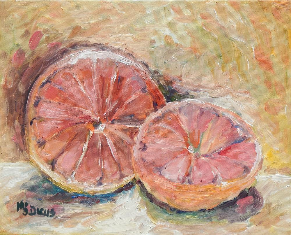 """Grapefruit"" original fine art by Mj Dicus"