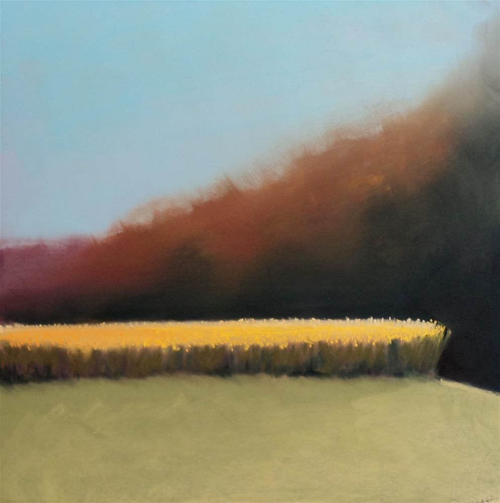 """Cornfield, Litchfield"" original fine art by Judy Albright"
