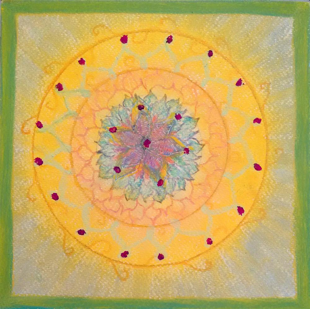 """Mandala of Love"" original fine art by Adéla Svobodová"