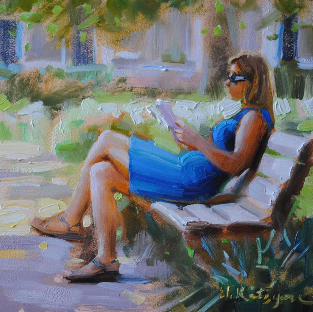 """Summer Afternoon in Charleston"" original fine art by Elena Katsyura"