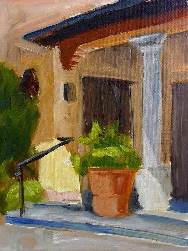 """Early Morning Porch"" original fine art by Adam Houston"